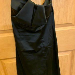 Black satin BeBe dress